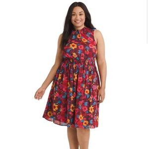 ModCloth sleeveless floral print dress size large